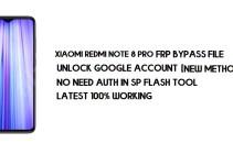 Xiaomi Redmi Note 8 Pro FRP File (Unlock Google) No Need Auth [MIUI 12] -2021