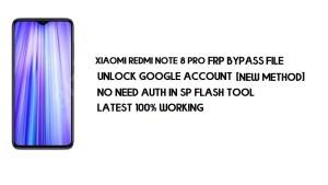 Xiaomi Redmi Note 8 Pro FRP File (Unlock Google) No Auth [MIUI 12]