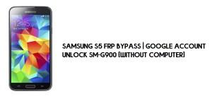 Samsung S5 FRP Bypass | Google Account Unlock SM-G900 [Without Computer]