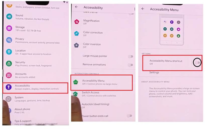 Enable Accessibility to bypass unlock Google Pixel Android 11 devices