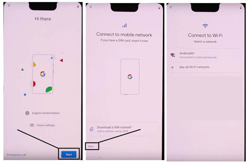 Connect Your Google Pixel to a Wifi network to Bypass Unlock FRP