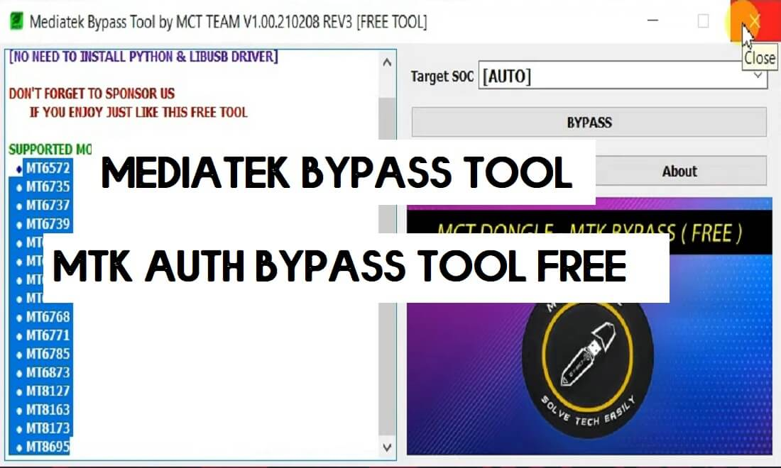 Download MediaTek Bypass Tool by MCT | New MTK Auth Bypass Tool 2021