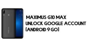 Maximus G10 Max FRP Bypass - Unlock Google Account (Android 9 Go)