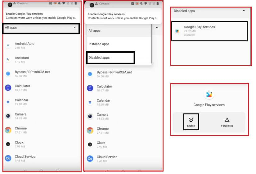 Disable Apps to OnePlus FRP Bypass Unlock Google Android 11