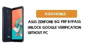 Asus Zenfone 5Q FRP Bypass Without PC – Unlock Google (Android 9 Pie