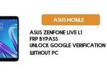 Asus ZenFone Live L1 (X00RD/ZA550KL) Google Account/ FRP Bypass 2021 |Without PC