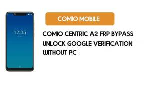 Comio Centric A2 FRP Bypass – Unlock Google Verification (Android 9 Pie)- Without PC