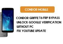 Condor Griffe T6 FRP Bypass – Unlock Google Account (Android 8.1 Go) for Free (Without PC)