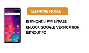 ElePhone U FRP Bypass Without PC– Unlock Google Account Android 7.1