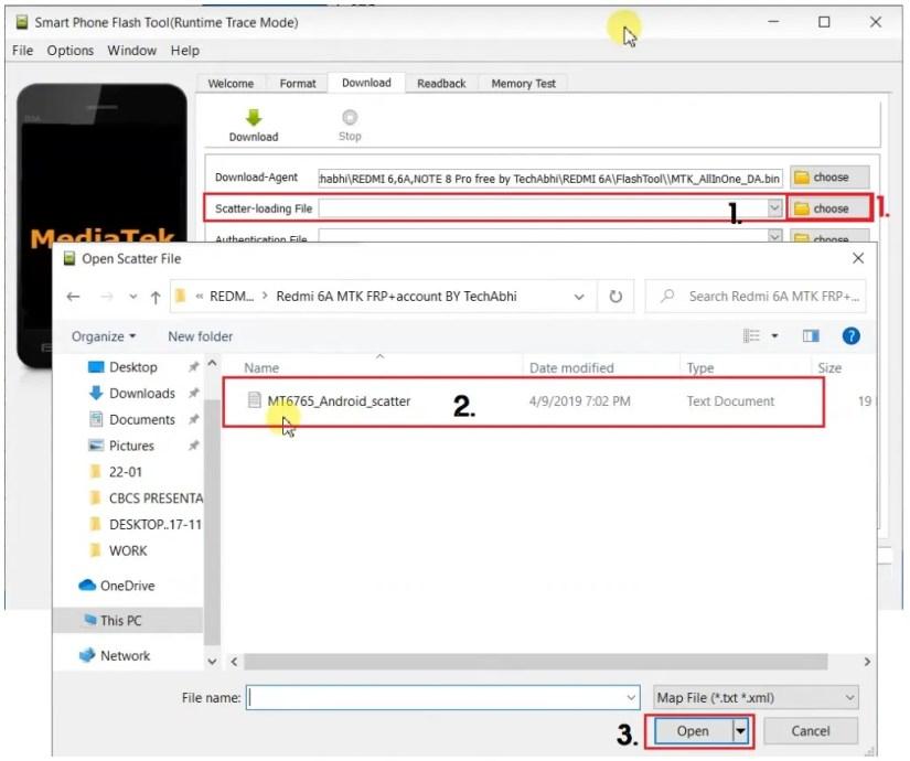 Select Scatter File in Tecno Mobile (Tecno Download Agent DA)