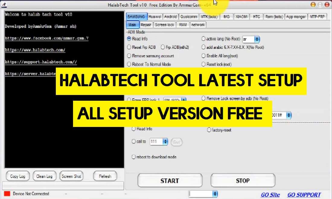 Halabtech Tool Free Download - All Huawei/Samsung FRP/Flash/Unlock Tool (All Version)