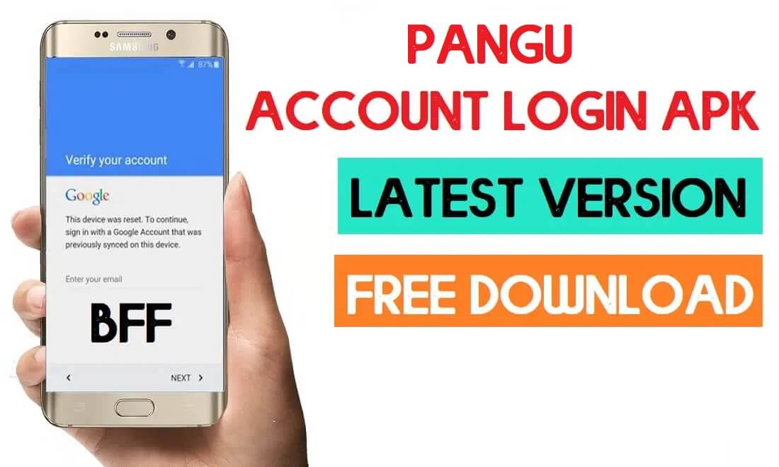 Download Pangu Account Login Apk to Bypass FRP with Browser Sign IN