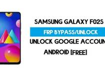 Samsung F02s FRP Bypass – Unlock Google Account [Android 10] Without FRP APK