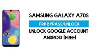 Unlock FRP Samsung Galaxy A70s (Bypass SM-A707 Google GMAIL)