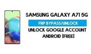Unlock FRP Samsung Galaxy A71 5G (Bypass SM-F415F Google GMAIL)