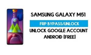 Unlock FRP Samsung Galaxy M51 (Bypass SM-F415F Google GMAIL)