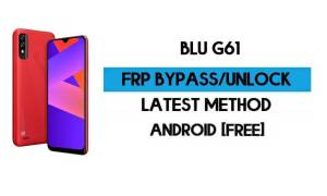 BLU G61 FRP Bypass Without PC - Unlock Google Gmail lock Android 10