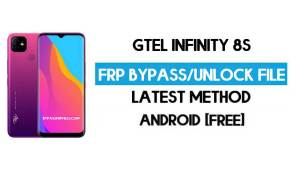 GTel Infinity 8s FRP Bypass – Unlock Google GMAIL Verification (Android 10) - Without PC