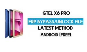 GTel X6 Pro FRP Bypass Without PC – Unlock Google Android 8.1 Oreo