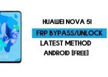 Unlock FRP Huawei Nova 5i | Android 9 Reset Google GMAIL (Without PC) – 2021
