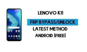 Lenovo K11 FRP Lock Bypass – Unlock GMAIL Verification [Android 10]