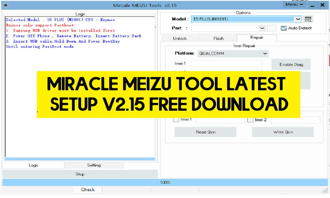 Miracle Meizu Tool Latest Setup V2.15 Free Download (All Version)