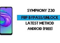 FRP Bypass Symphony Z30 – Unlock Google GMAIL Verification (Android 10) – Without PC