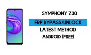 FRP Bypass Symphony Z30 Without PC - Unlock Gmail Lock Android 10