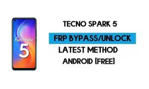 Tecno Spark 5 FRP Lock Bypass – Unlock GMAIL [Android 10] New 2021