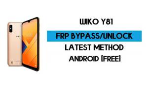 Wiko Y81 FRP Bypass Without PC - Unlock Google Gmail Android 10 Go