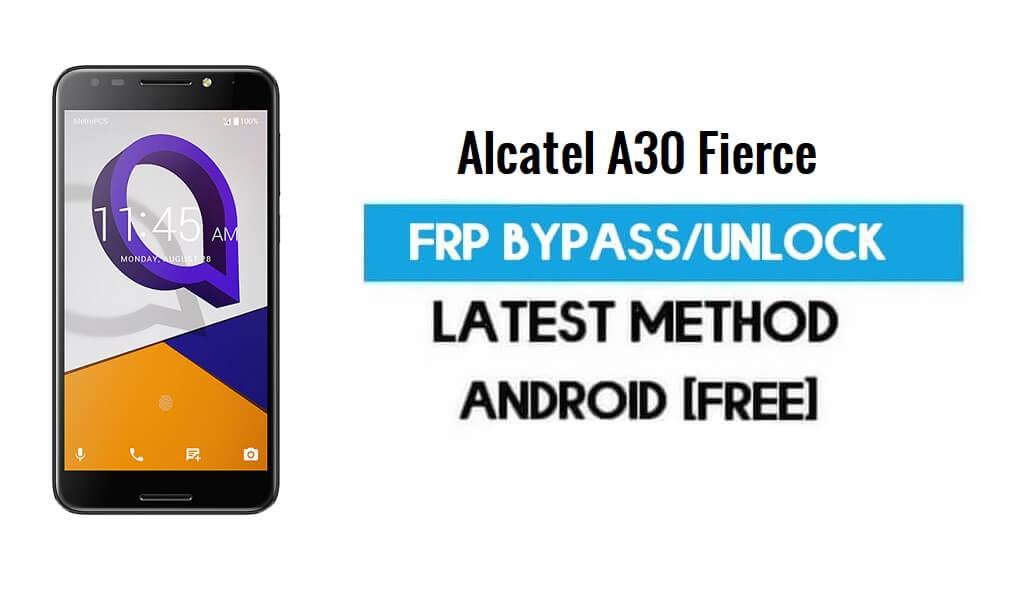 Alcatel A30 Fierce FRP Bypass – Unlock Gmail Lock Android 7.0 Free