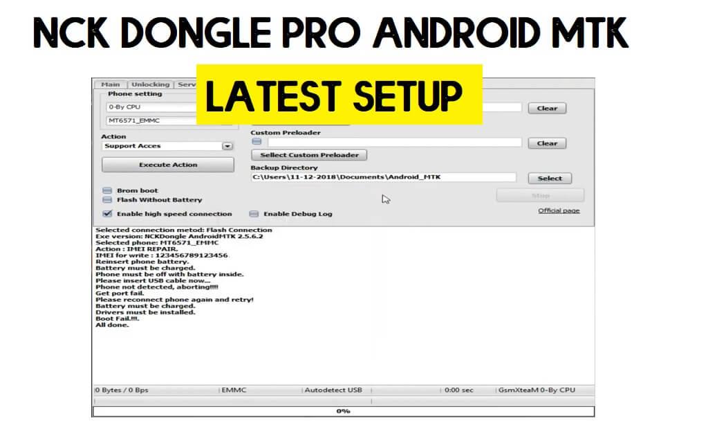 NCK Dongle Pro Android MTK Latest Setup V2.75 Free Download (2021)