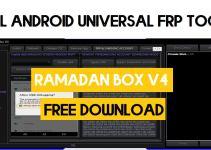 Ramadan Box v4 Latest – All Android Universal FRP Tool (2021)