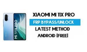 Xiaomi Mi 11X Pro MIUI 12.5 FRP Unlock/Google Account Bypass Free