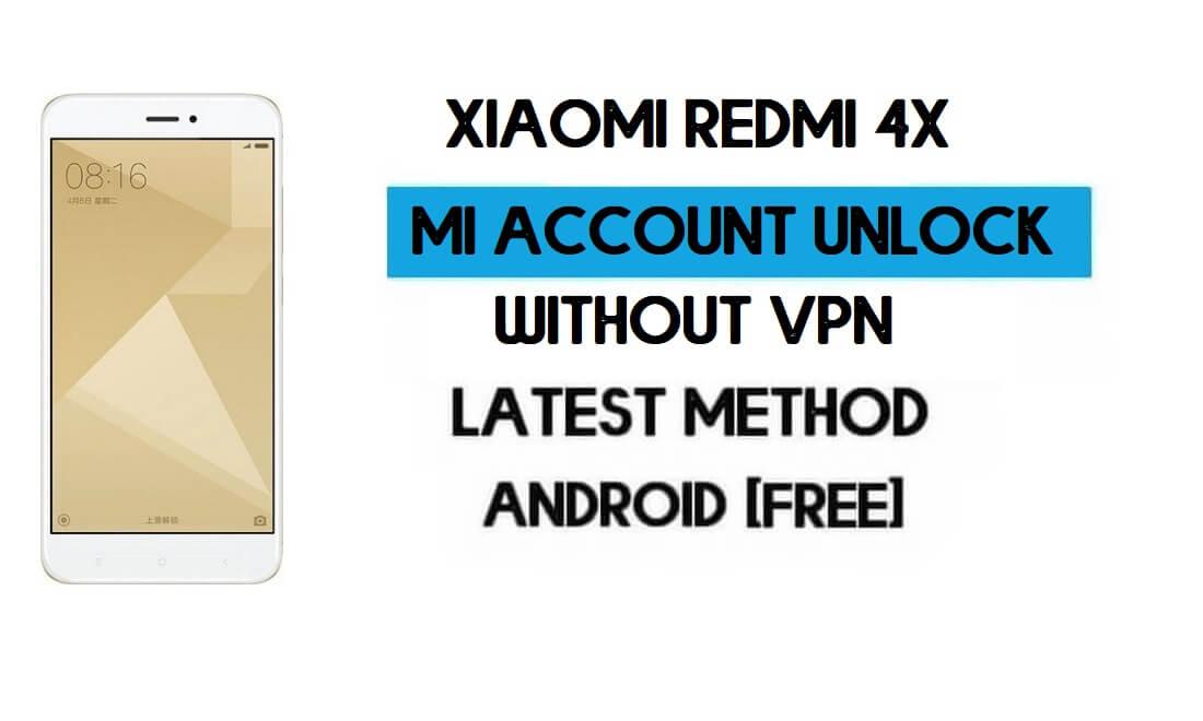 Xiaomi Redmi 4X Mi Account Remove File Without VPN Qfil Tool Free