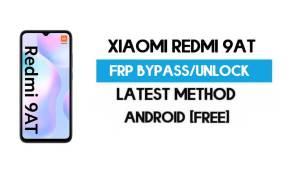 Xiaomi Redmi 9AT MIUI 12.5 FRP Unlock/Google Account Bypass (Free)