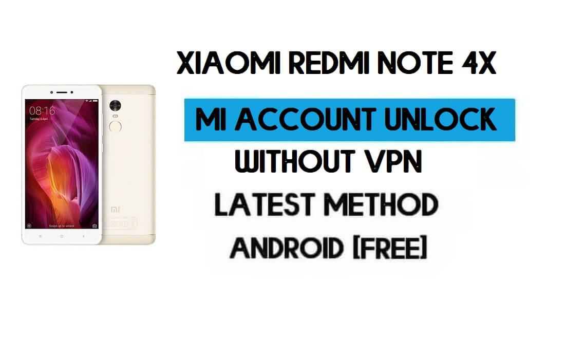 Xiaomi Redmi Note 4X Mi Account Remove With Qfil Tool [MIUI 11] free