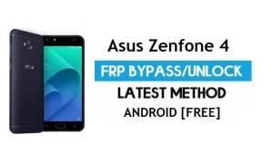 Asus Zenfone 4 ZE554KL FRP Bypass – Unlock Gmail Lock Android 7.0