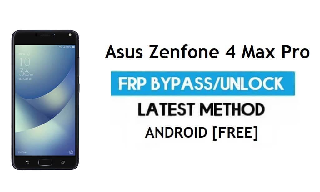 Asus Zenfone 4 Max Pro ZC554KL FRP Bypass – Unlock Gmail Lock Free