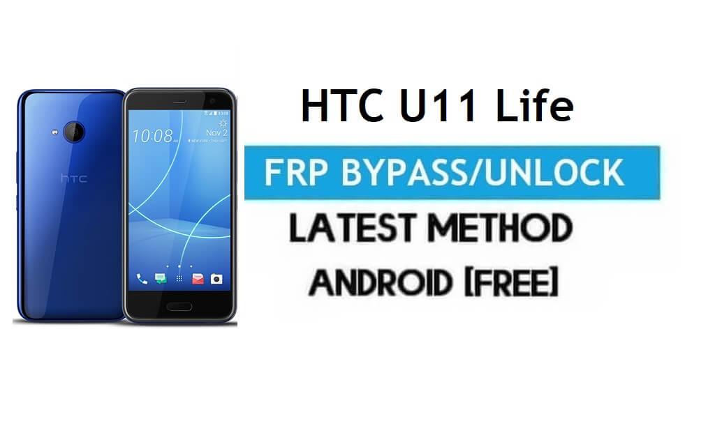 HTC U11 Life FRP Bypass – Unlock Google Gmail Lock Android 9 No PC