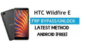 HTC Wildfire E FRP Bypass – Unlock Gmail Lock Android 9.0 No PC