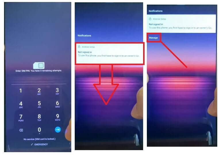 Tap Notification to Sony Android 11 FRP Bypass Unlock Google Account Verification