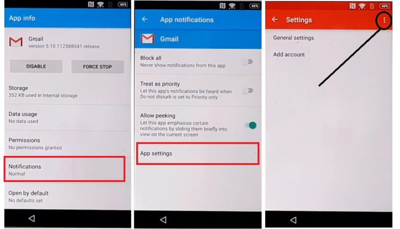 Select Manage Accounts to Sony Android 6 FRP bypass Unlock Google Account Without PC