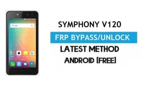 Symphony V120 FRP Bypass – Unlock Gmail Lock Android 7.0 Without PC