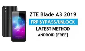 ZTE Blade A3 2019 FRP Bypass – Unlock Google Gmail Lock Android 9.0