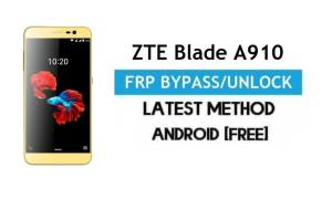ZTE Blade A910 FRP Bypass – Unlock Google gmail lock Android 6 No PC
