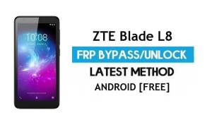 ZTE Blade L8 FRP Bypass Android 9.0 Go – Unlock Google Gmail Lock [Without PC] Latest Method