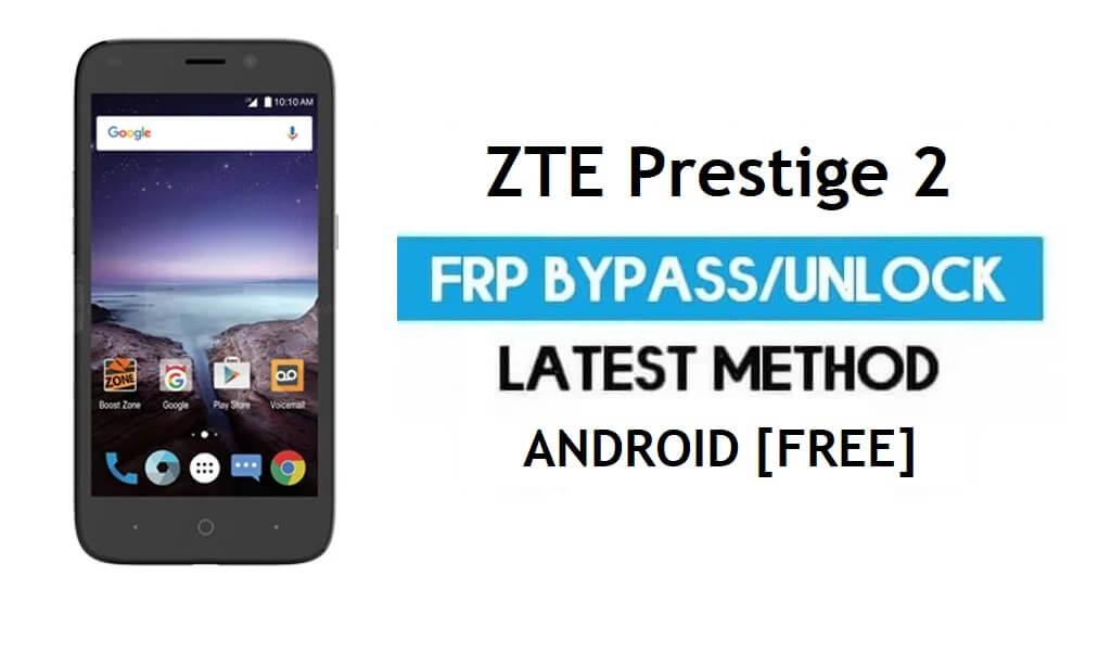ZTE Prestige 2 FRP Bypass - Unlock Google gmail lock Android 6.0 No PC