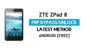 ZTE ZPad 8 FRP Bypass – Unlock Gmail Lock Android 7.0 Without PC