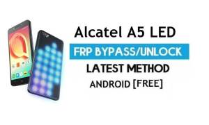 Alcatel A5 LED FRP Bypass Without PC – Unlock Gmail Lock Android 6.0